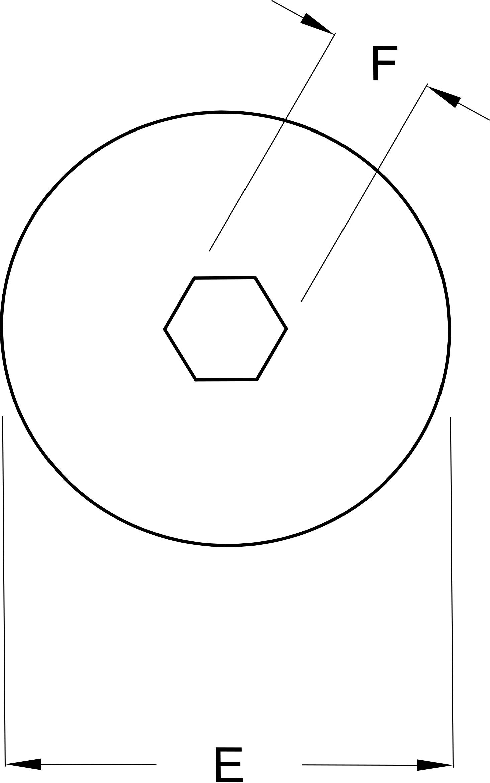 Conector de Tuerca-T con Hueco Interior Hexagonal