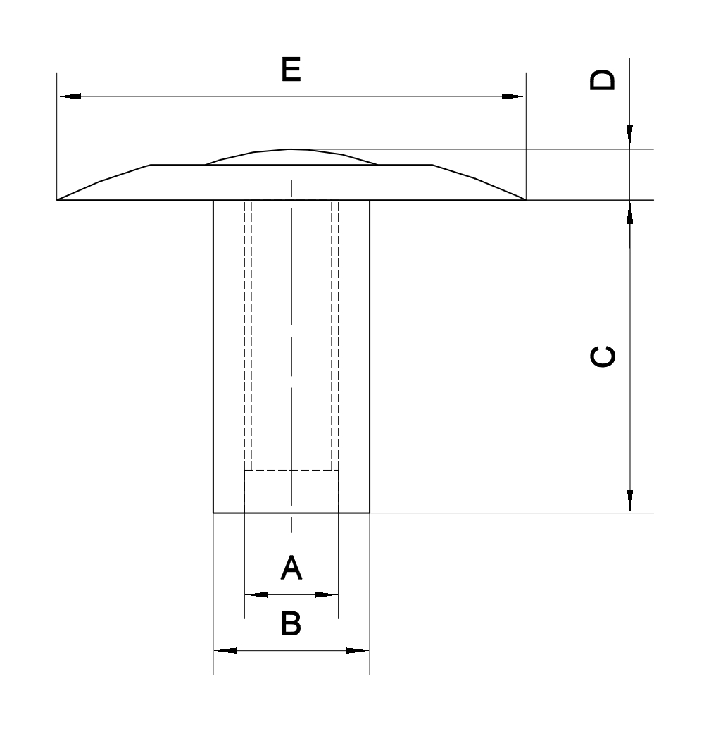 Buffalo Konturkopf T-Verbinder