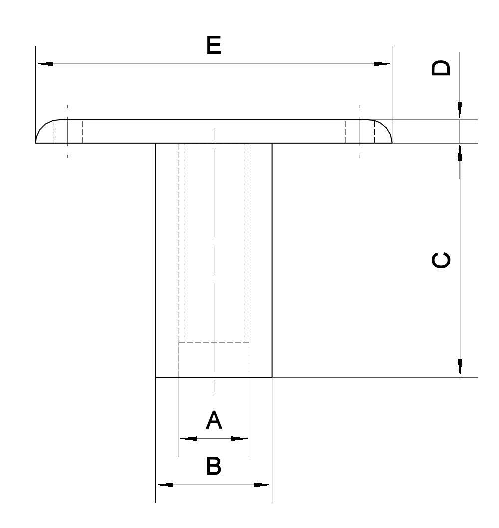 Conector de Tuerca-T con Cabeza Plana