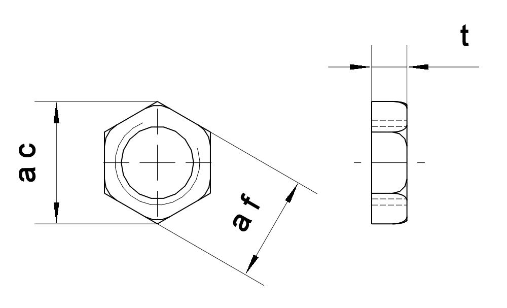 Ecrou hexagonal bas
